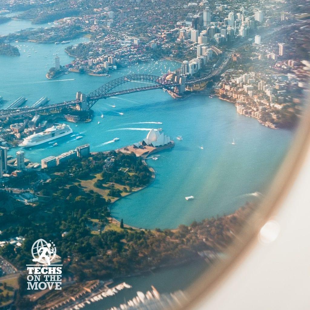 Harbour Bridge from plane